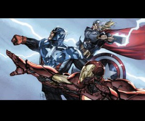 Avengers, captain america, and comic image
