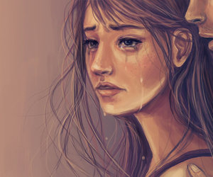 tears, don't go, and beautiful drawing image