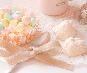 pastel, pink, and food image