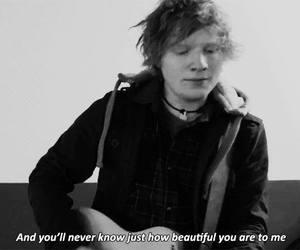 ed sheeran, beautiful, and Lyrics image