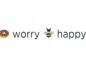 bee, happy, and worry image