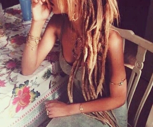 dreads, style, and blonde image