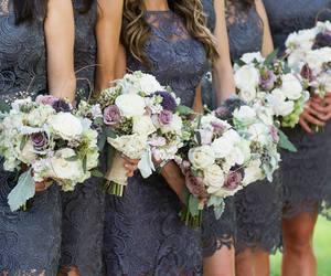 bouquet, bride, and wedding image