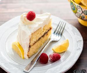 cake, whipped cream, and jam image