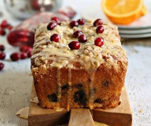 cake, orange, and cranberry image