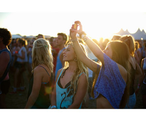 festival, girls, and photography image
