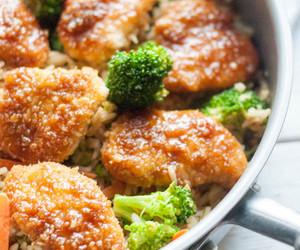 Chicken, coconut, and fried rice image