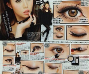 japanese, tutorial, and make up image