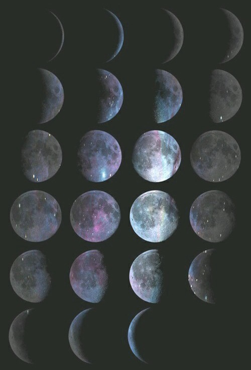 Moon Phases Wallpaper Discovered By Beatrice