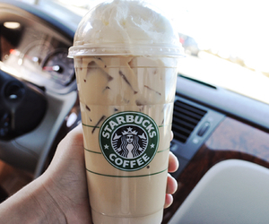 iced coffee, starbucks, and tumblr image