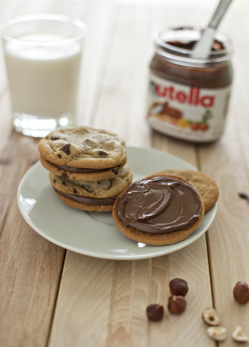 biscuits, nutella, and eat image