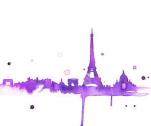 paris, purple, and art image