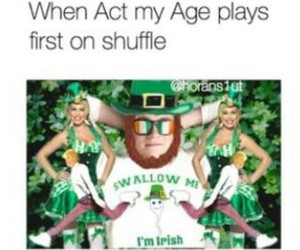 funny, niall horan, and act my age image