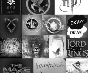 harry potter, looking for alaska, and divergent image