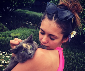 Nina Dobrev, tvd, and cat image