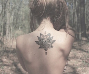 blonde, flower, and tattoo image