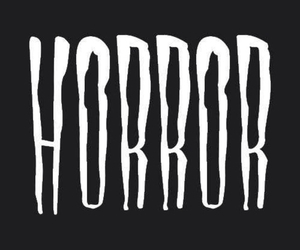 horror and black image