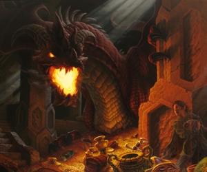 art, books, and dragon image