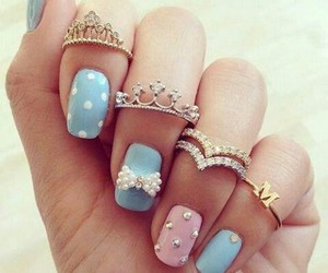 nails, cute, and and rings image