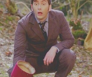 david tennant, doctor who, and funny face image