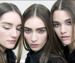 model, backstage, and chanel image