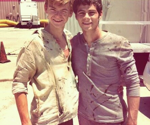 thomas, dylan o'brien, and newt image