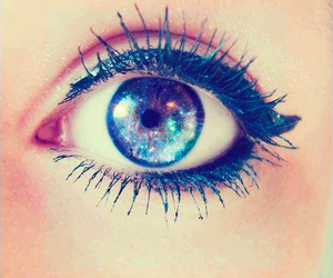 eye, eyes, and galaxy image