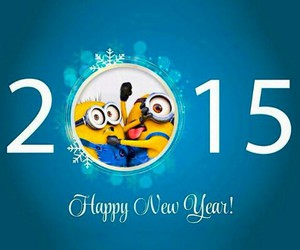 2015, minions, and happy new year image