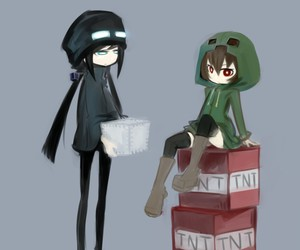 minecraft, creepers, and anime image