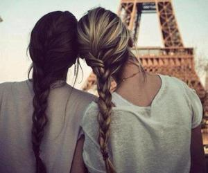 girls, hair, and tour eiffel image