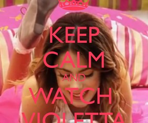 disney, keep calm, and violetta image