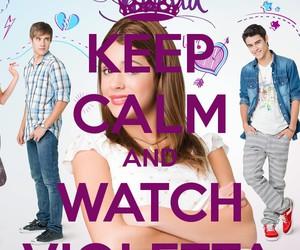 disney, keep calm, and violetta image
