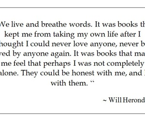 books, life, and words image