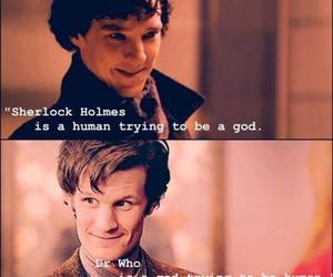 doctor who, sherlock, and sherlock holmes image