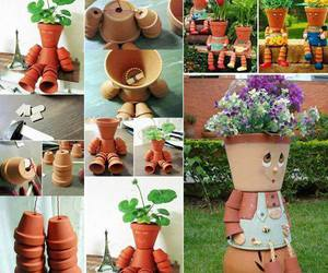 gardening, home idea, and clay pot image