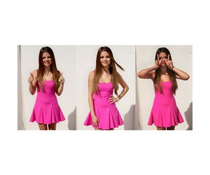 selena gomez, pink, and cute image