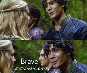 bellamy, the cw, and clarke image