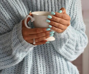 nails, fashion, and sweater image