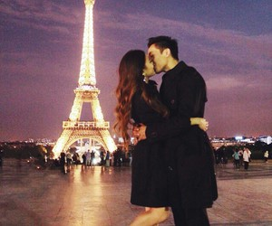 love, kiss, and paris image