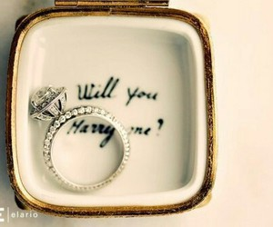 ring, wedding, and diamond image