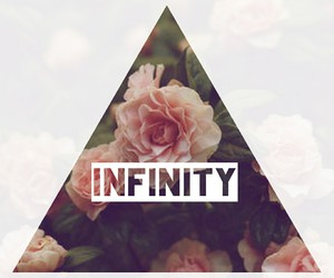 infinity, rose, and triangle image