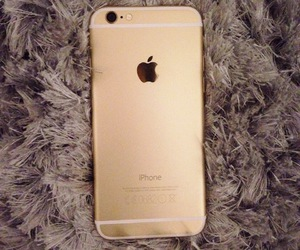apple, iphone 6 gold, and gold image