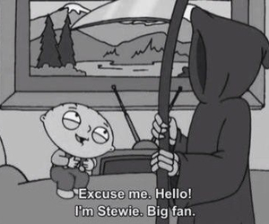 stewie, family guy, and death image