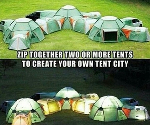 tent, camping, and city image