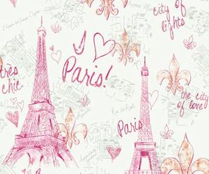 paris, pink, and wallpaper image