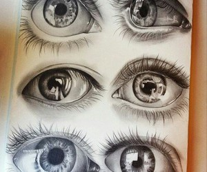 eyes, black, and draw image