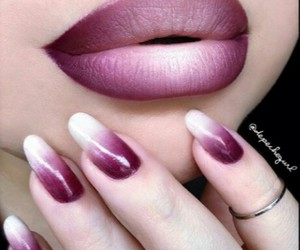 beauty, plum, and makeup image