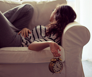 girl and clock image