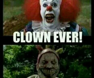 american, horror, and clown image