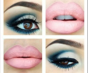 makeup and baby pink lips image